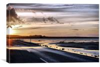 Holy Island Causeway, Canvas Print