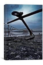 Ships Anchor by Rail Bridge, Canvas Print