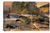 Falls of Dochart, Canvas Print
