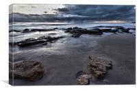 Stormy Beach Sunset, Canvas Print
