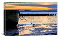 Sunset over Firth of Forth, Canvas Print