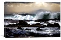 Raging Seas, Canvas Print