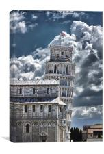 Leaning Tower Leaning, Canvas Print