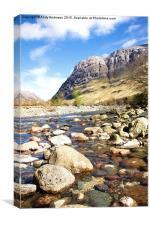 River Coe - Glencoe, Canvas Print