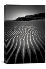 Kinghorn, Fife Beach Textures, Lines, Curves & Con, Canvas Print