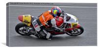 Motorcycle club racing, Canvas Print