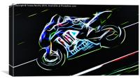 Motorcycle Racer, Canvas Print