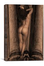 Girl on Column, Canvas Print