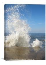 Crashing Waves, Canvas Print