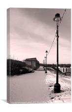 Lamposts in the snow, Canvas Print