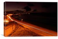 Seafront at Night, Canvas Print