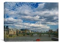 River Thames, Canvas Print