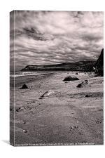 Runswick Bay, Canvas Print