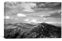 Snowdonia in Black and White, Canvas Print