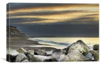 Hengistbury Head at Dawn, Canvas Print