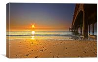 Sunrise by the Pier, Canvas Print