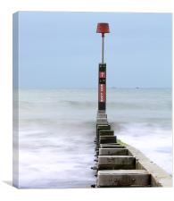 Groyne to the Horizon, Canvas Print
