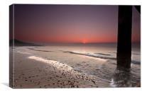 Pink Beach, Canvas Print