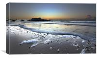 Silver Sea Bournemouth Pier, Canvas Print