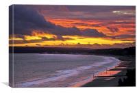 Bournemouth to Sandbanks Sunset, Canvas Print