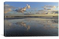 Reflections at Evening Hill Sandbanks, Canvas Print