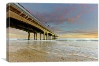 Boscombe Pier at Sunset, Canvas Print