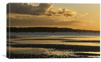 Sandbanks Golden Sunset, Canvas Print