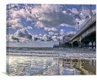 Bournemouth Beach and Pier, Canvas Print
