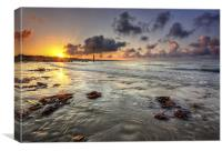 Avon Beach Sunrise, Canvas Print