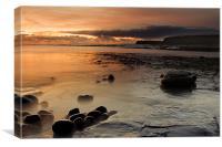 Sunset at Kimmeridge, Canvas Print