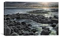 Pebble Beach, Canvas Print