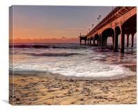 Golden Pier at Boscombe, Canvas Print