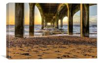 Under the Pier at Sunrise, Canvas Print