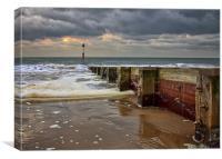 Groyne 7 Bournemouth Beach, Canvas Print