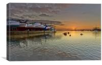 Christchurch Quay Sunrise, Canvas Print