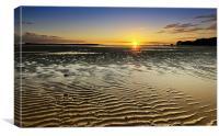 Sunset at Sandbanks, Canvas Print
