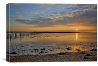 Brownsea Island at Sundown, Canvas Print