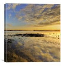 Reflections in the Sand at Poole, Canvas Print