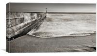 Mono Long Groyne Bournemouth, Canvas Print