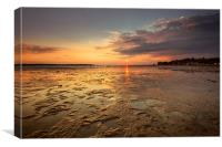August Sunset at Sandbanks Poole, Canvas Print