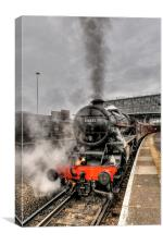 Black Five 44871 Steam Train, Canvas Print