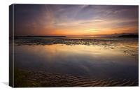 Sandbanks at Sunset, Canvas Print