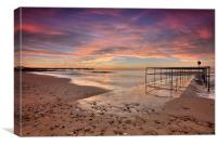 Sunrise at Boscombe this morning, Canvas Print