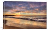 HDR Beach Sunrise, Canvas Print