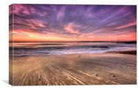 Multi Colour Beach, Canvas Print