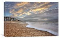 The Beach front at Boscombe, Canvas Print
