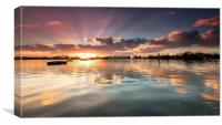 Poole Park Sunrise, Canvas Print