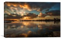 Poole Park Sunrise - another view, Canvas Print