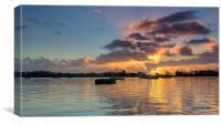 Dawn at Poole Park, Canvas Print