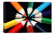 Colour Tips, Canvas Print
